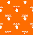 hand cursor and website pattern seamless vector image