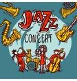 Jazz Sketch Poster vector image