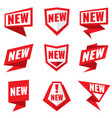 new product status labels vector image