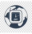 silhouette icon earth hour vector image