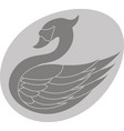 swan in the egg vector image