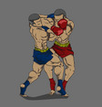 thai boxing or muay thai martial art vector image