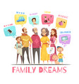 family dreaming design concept vector image