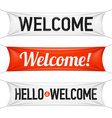 Hello and Welcome banners vector image