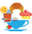 cafe and pastries vector image