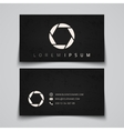 Business card template Camera shutter concept vector image