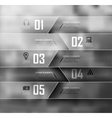 Blur business step transparent and shadows options vector image