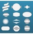 Vintage gray Labels Set on blue Background vector image