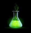 Glass beaker Stock vector image