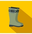 Rubber boots flat icon vector image