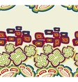 Seamless pattern with ethnic Indian symbols EPS10 vector image
