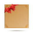 gift card with golden swirl frame vector image