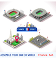 Game Set 19 Building Isometric vector image vector image