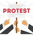a protest vector image