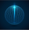 Abstract blue outline globe sphere background vector image