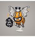Cartoon Monster Ill Bee Bat vector image