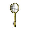 comic cartoon old tennis racket vector image