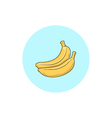 Icon Colorful Banana vector image
