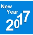 Paper symbols with shadow New Year 2017 vector image