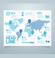 realistic 3d detailed leaflet booklet vector image