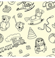 seamles pattern with toys for children vector image