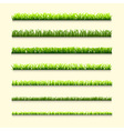 Seven different types of green grass vector image
