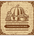 Vintage Thanksgiving Card Brown vector image