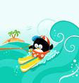 Water Skiing Penguin vector image vector image