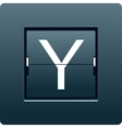 Letter Y from mechanical scoreboard vector image