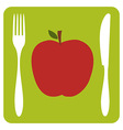 Vegetarian restaurant icon vector image vector image
