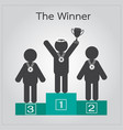 human standing on competition podium vector image