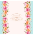 Flower pattern on a bright background for the vector image vector image