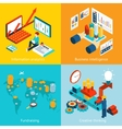 Business intelligence information analytics vector image