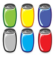 soda cans vector image vector image