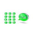 chat forum blog vector image