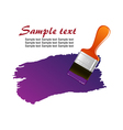 Brush trace vector image vector image