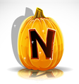 Halloween Pumpkin N vector image