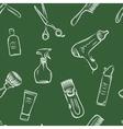 Barbershop doodle pattern vector image