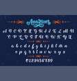 hand drawn typeface brush painted letters vector image