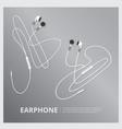 music earphones vector image