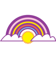 Rainbow graphic vector image vector image