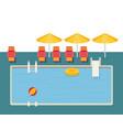flat pool hotel summer vacation vector image
