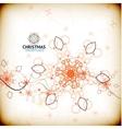 vintage christmas snowflake card vector image