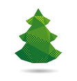 Christmas tree abstract isolated vector image