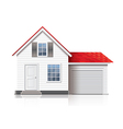 house isolated vector image