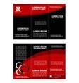 Tri fold business brochure template vector image