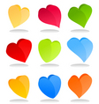 heart icon9 vector image vector image
