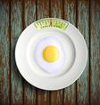 scrambled eggs Stock vector image vector image