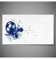 a hand-drawn football ball vector image
