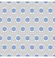 Big and small circles seamless pattern on white vector image